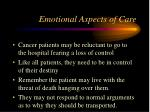 emotional aspects of care