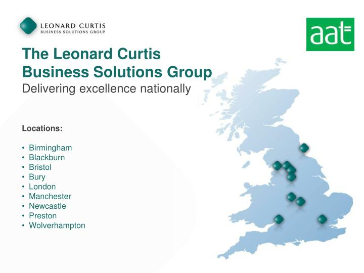 The leonard curtis business solutions group delivering excellence nationally
