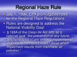 regional haze rule