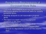 regulatory requirements of regional haze rule