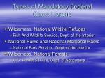 types of mandatory federal class i areas