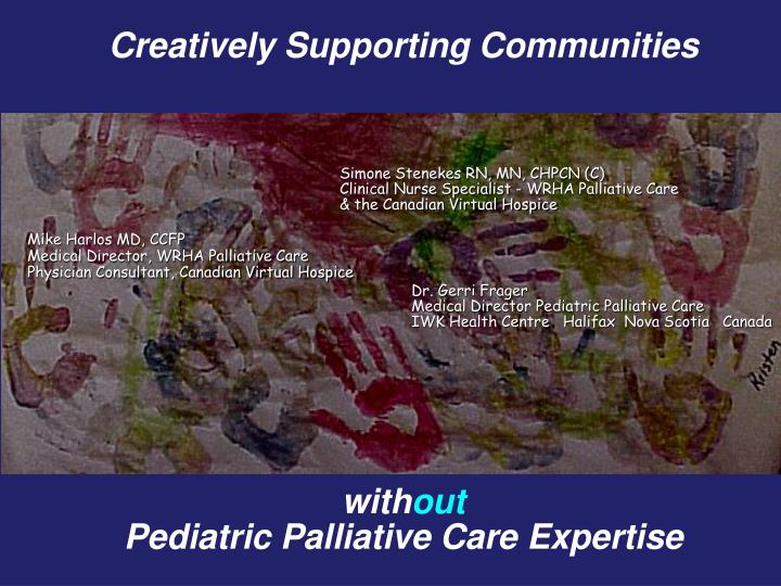 Creatively Supporting Communities