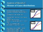 analysis of results i mixture of gauss distributions