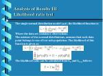 analysis of results iii likelihood ratio test