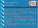 basic definitions of time series