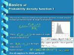 basics of probability density function i