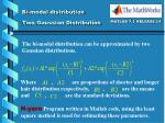 bi modal distribution two gaussian distribution