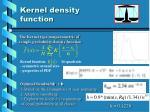 kernel density function