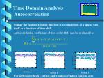 time domain analysis autocorrelation