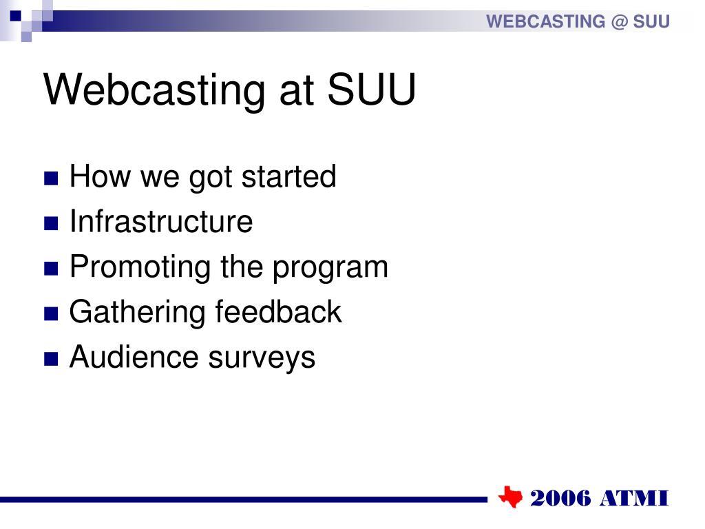 Webcasting at SUU
