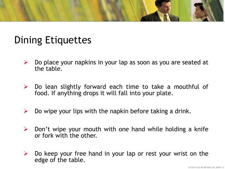 Dining Etiquettes