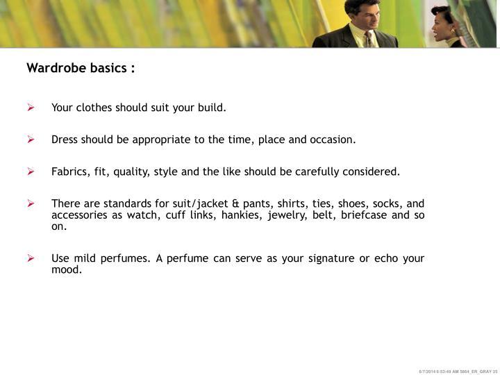 Wardrobe basics :