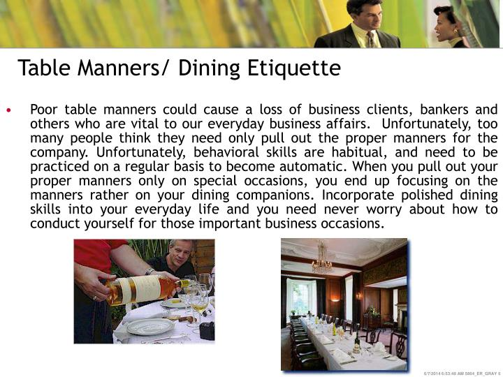 Table Manners/ Dining Etiquette