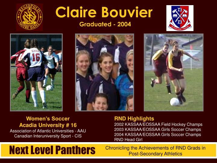 Claire bouvier graduated 2004