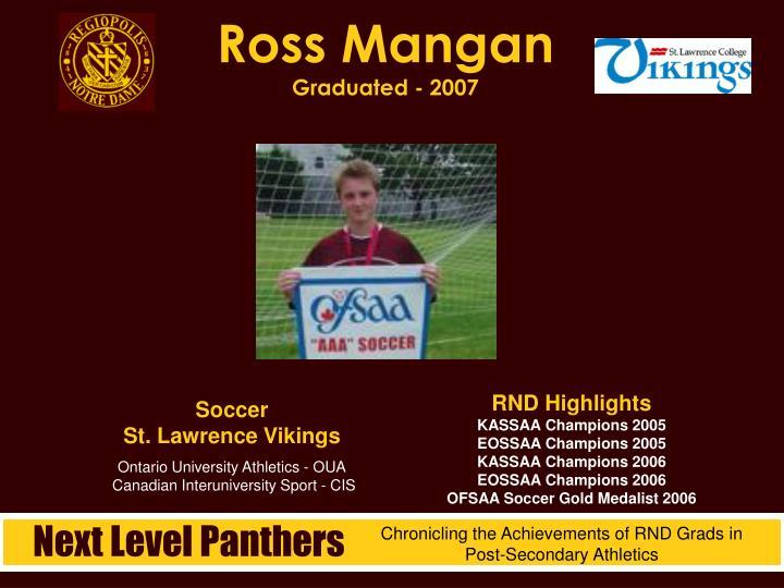 Ross Mangan