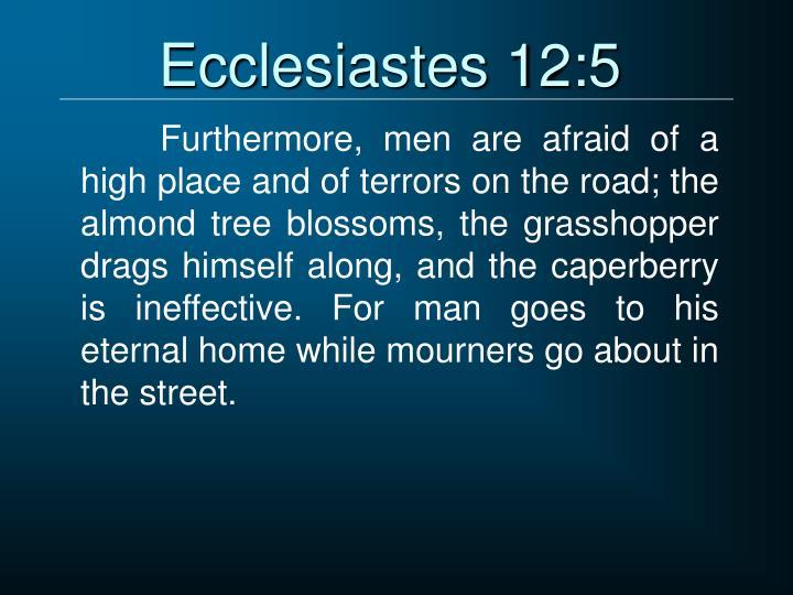 Ecclesiastes 12:5