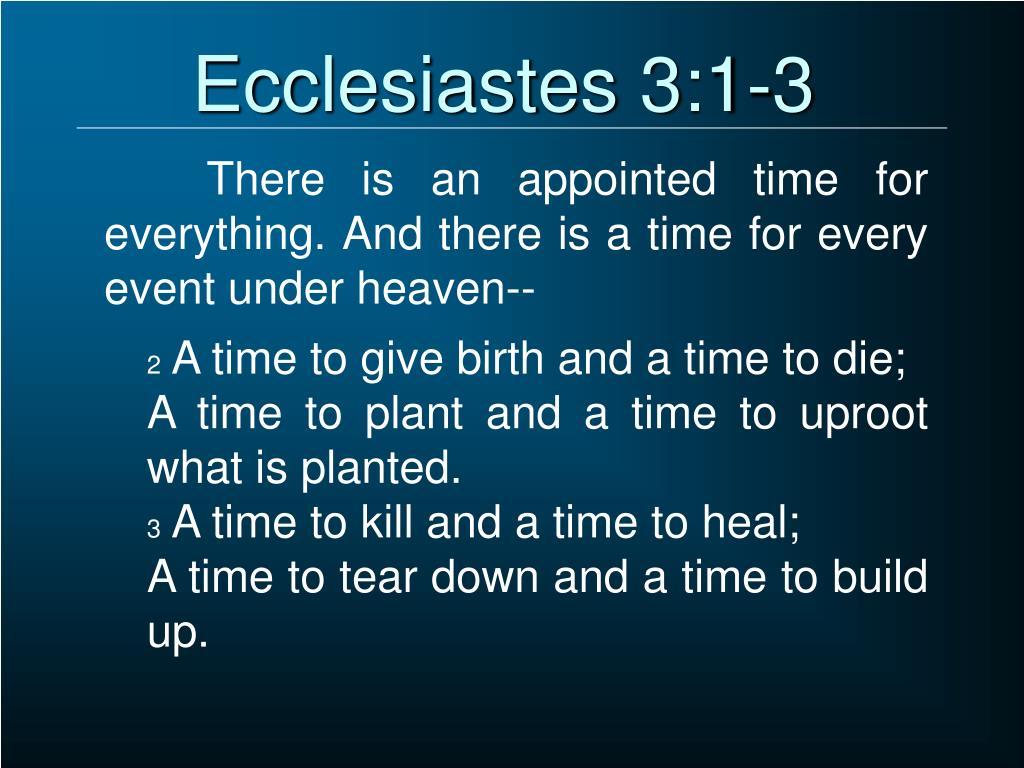 PPT - Ecclesiastes PowerPoint Presentation - ID:1359595