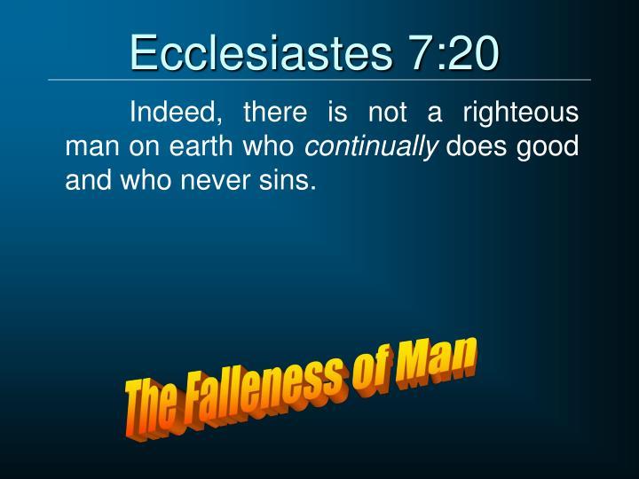 Ecclesiastes 7:20