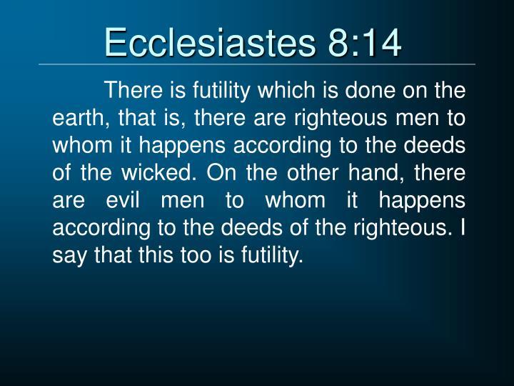 Ecclesiastes 8:14