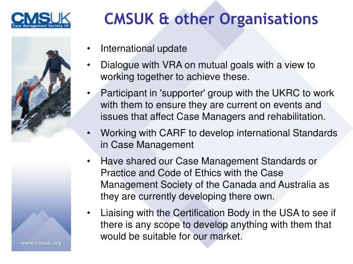 CMSUK & other Organisations