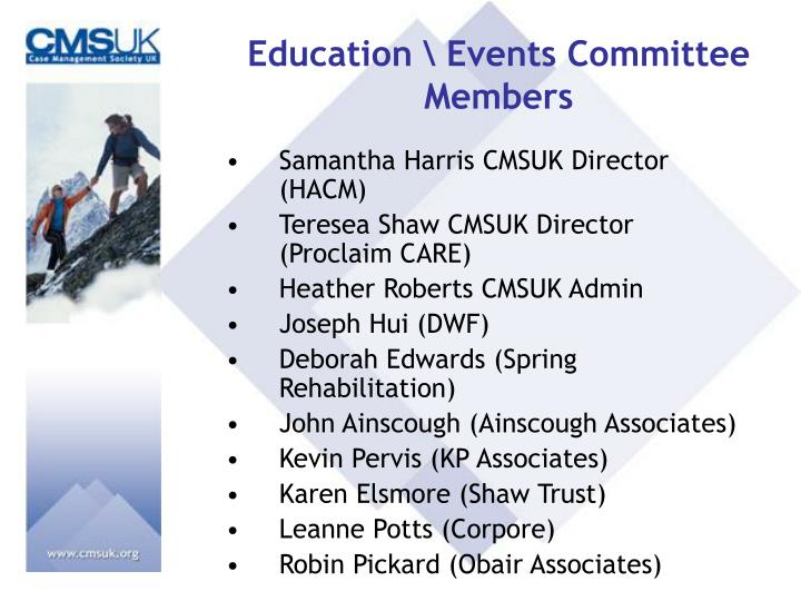 Education \ Events Committee Members