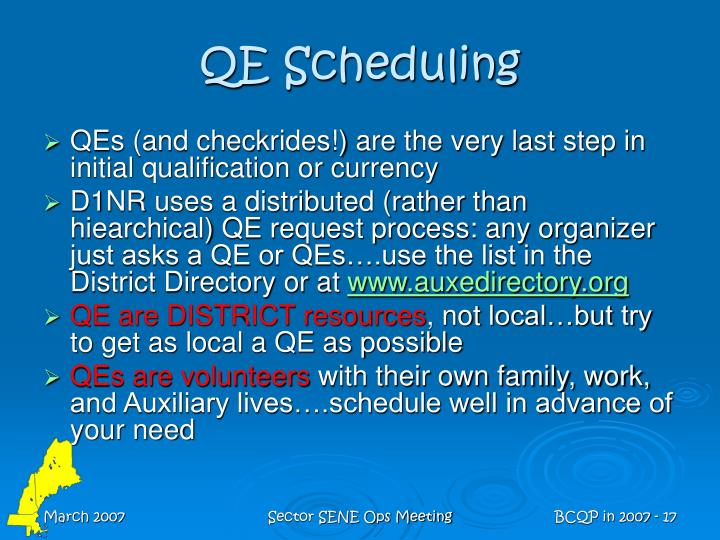 QE Scheduling