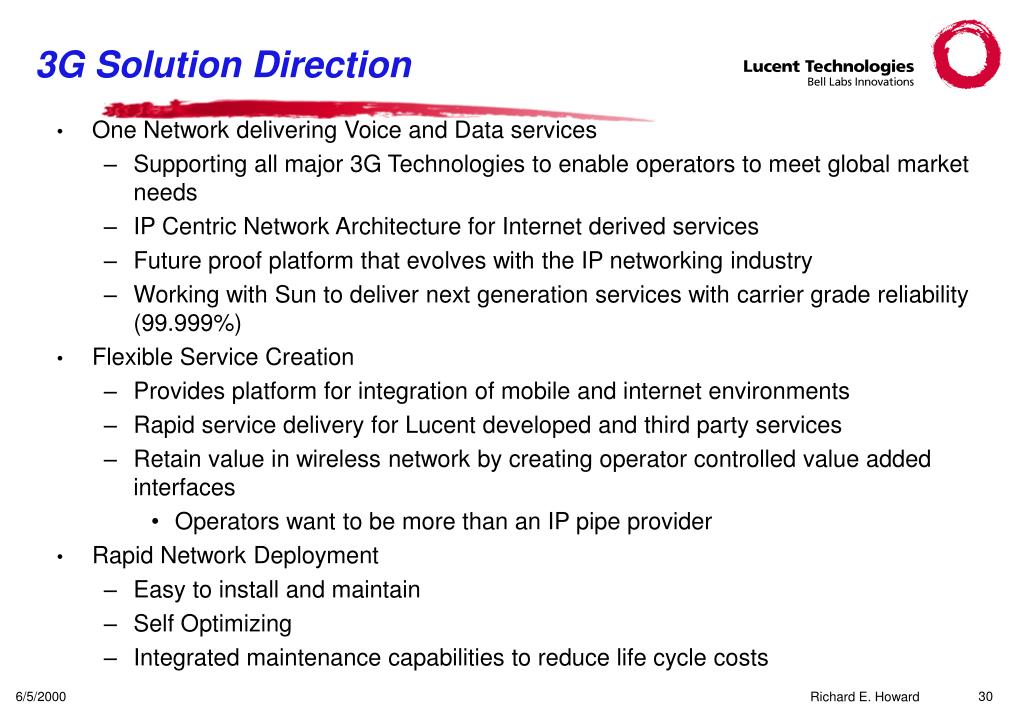 3G Solution Direction