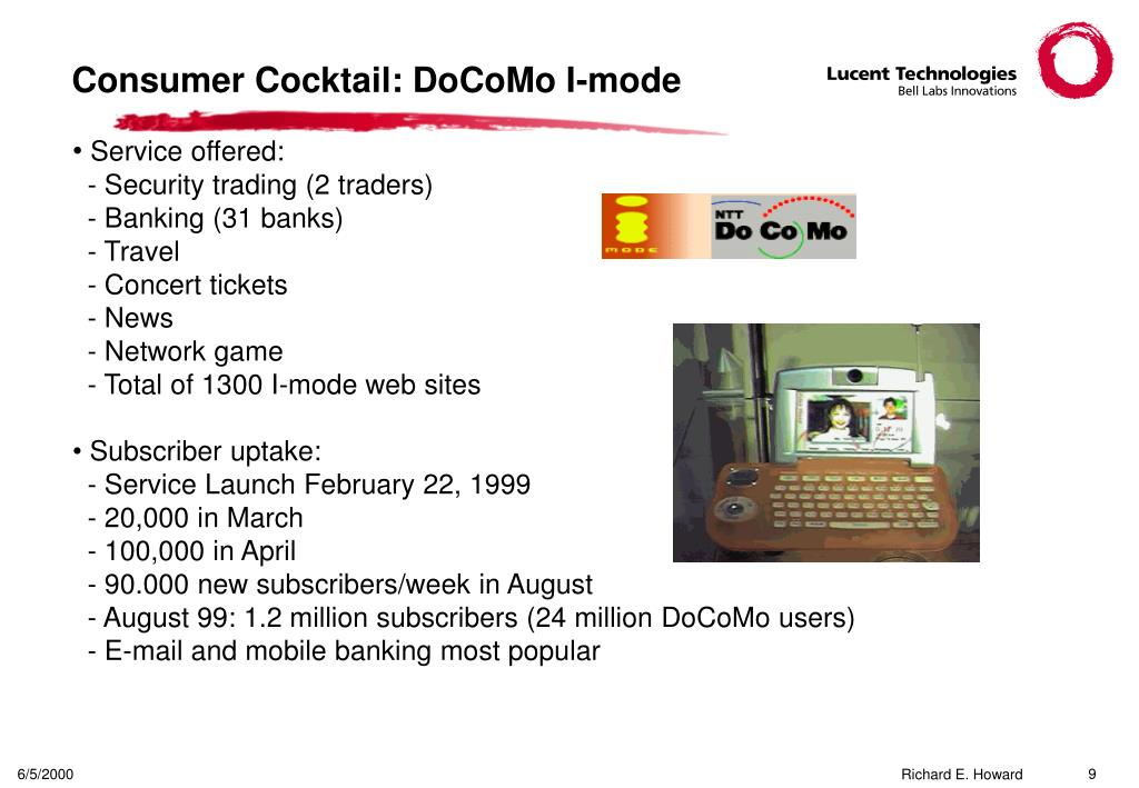 Consumer Cocktail: DoCoMo I-mode