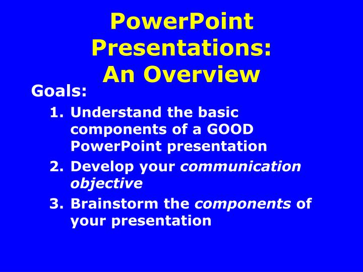 powerpoint presentations an overview n.