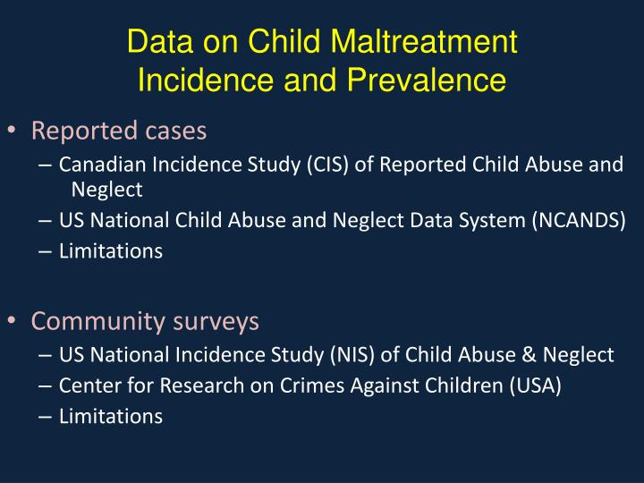 Data on Child Maltreatment