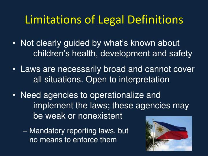 Limitations of Legal Definitions