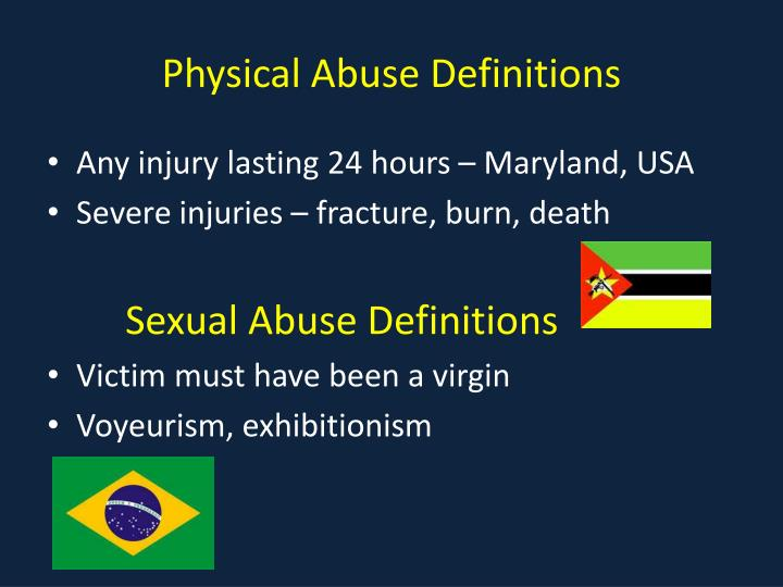 Physical Abuse Definitions