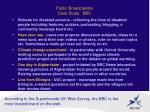 public broadcasters case study bbc