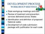 development process workgroup meetings