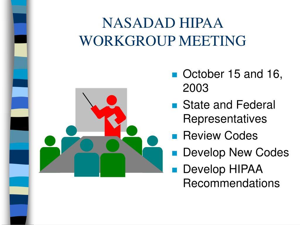 NASADAD HIPAA