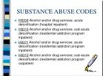 substance abuse codes12