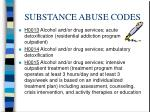 substance abuse codes13