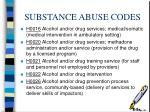 substance abuse codes14