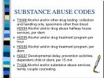 substance abuse codes16