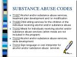 substance abuse codes17