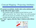 concept mapping projecting attributes