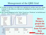 management of the qbe grid