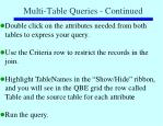 multi table queries continued