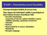 fasd neurobehavioral disability