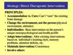 strategy direct therapeutic intervention1