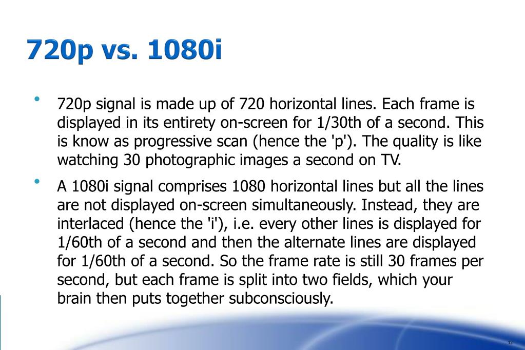 720p vs. 1080i