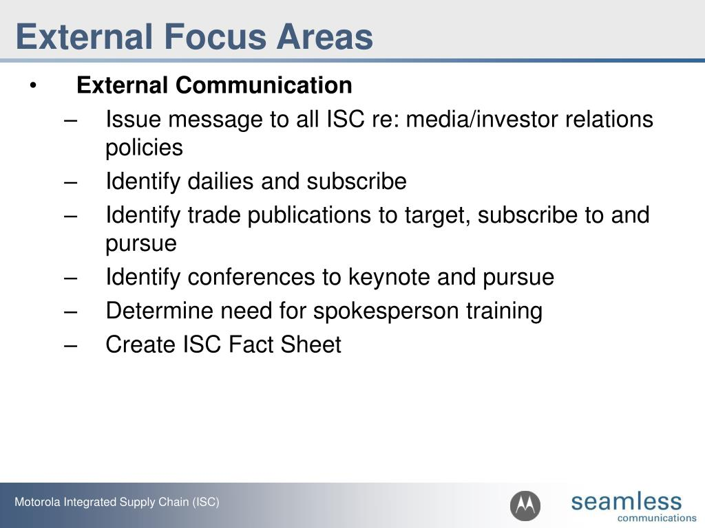 External Focus Areas
