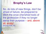 brophy s law