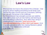 law s law