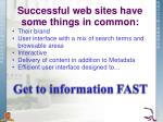 successful web sites have some things in common